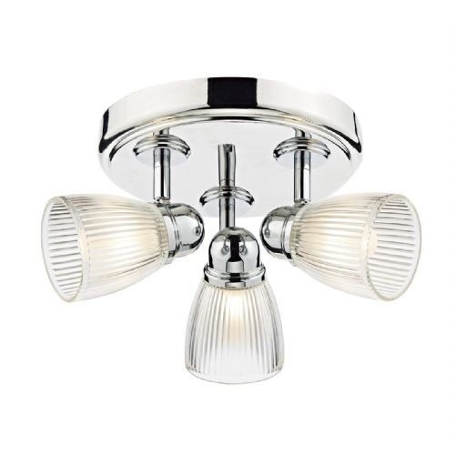 Cedric 3 Light Round Plate Spot Polished Nickel IP44 CED7638
